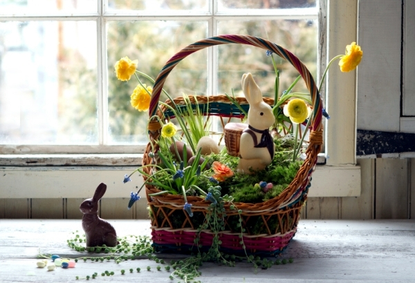 Natrlich not only the content but also the beautiful tinkering colorful easter baskets negle Choice Image