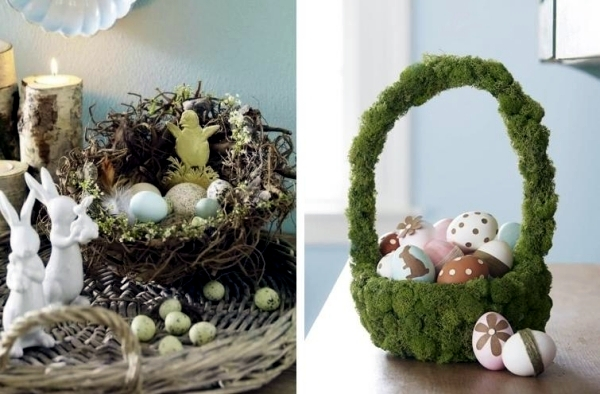 Easter basket crafts and even arrange-20 good ideas for Easter