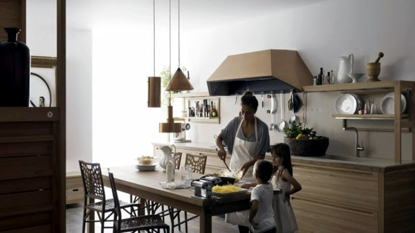 Wood Kitchen Design Comfort For The Whole Family