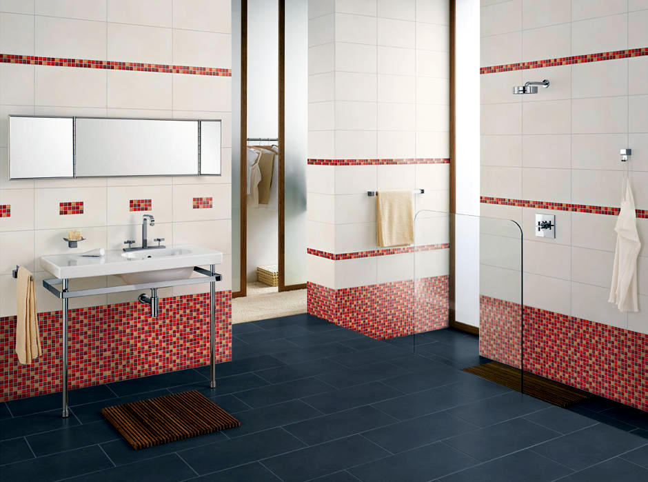 Border mosaic tile red | Interior Design Ideas - Ofdesign
