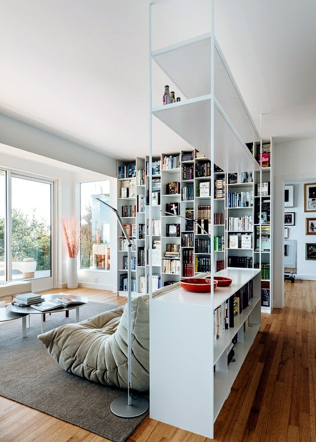 Ideas bulky furnishings - racking for the book collection