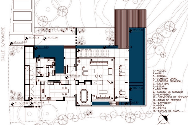 Architectural character home surrounded by loft, surrounded by greenery and water