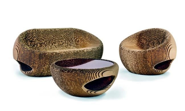 Furniture recycling cardboard design for nature interior design