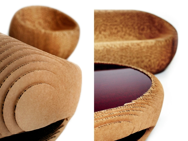 Furniture recycling cardboard design for nature