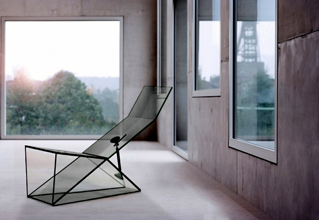 Glass Furniture fascinated by the architectural aesthetics