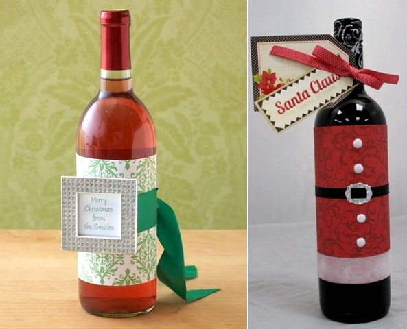 christmas decorations - Christmas Wine Bottle Decorations