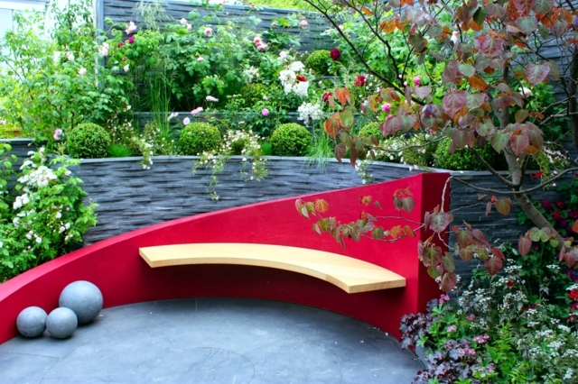 Wooden Bench 48 Creative Ideas Garden Design Stone And