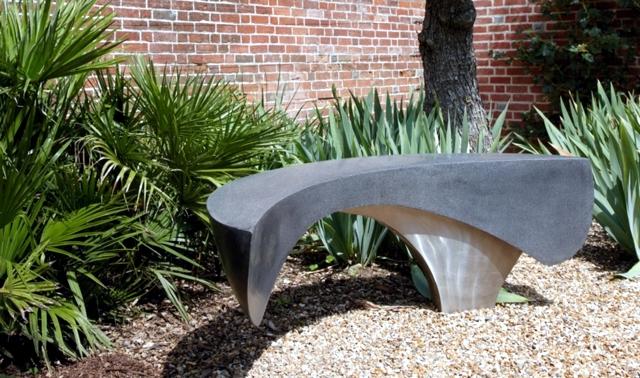 Wooden Bench 48 creative ideas garden design stone and