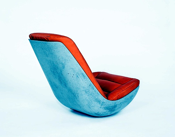 Rocking chair design concrete reinforced carbon Paulsberg