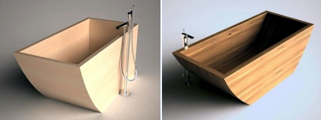 Wood in the bathroom - toilet and bathroom design Unique Wood Design