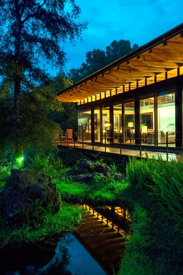 Wooden Modern House Forest