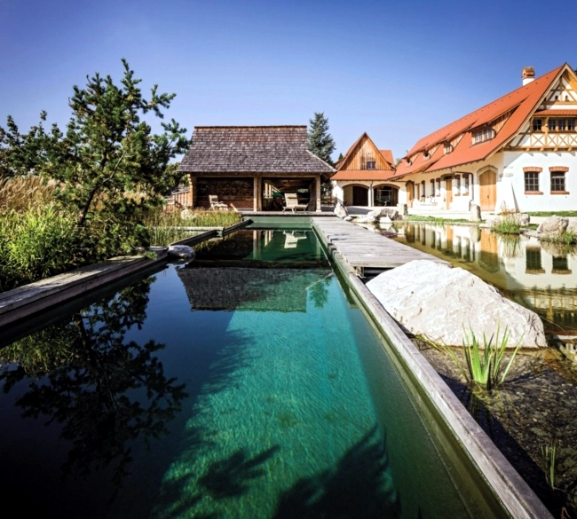 Water in the garden - pool provides fun for all the family