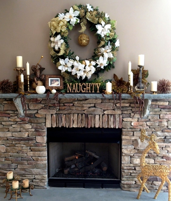 mantelpiece christmas is a wonderful opportunity in the winter fantasy and glamor and convenient way to decorate the house at the same time