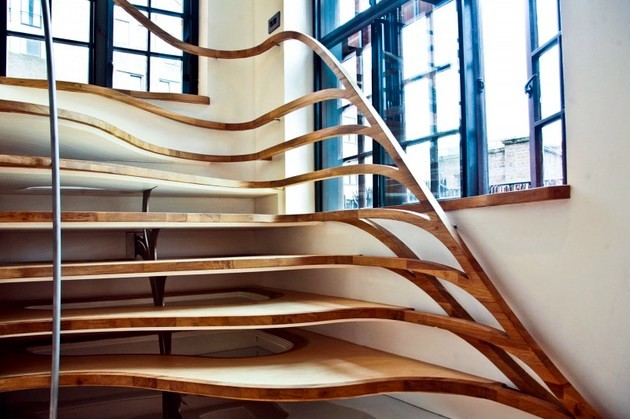 Winning Design Wooden Staircase That Seems Almost Alive