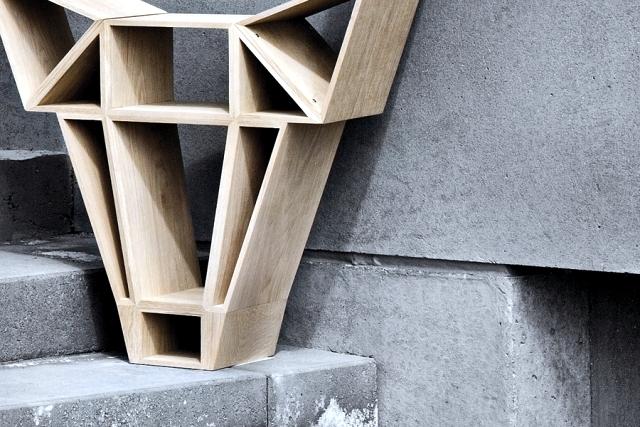 Freestanding bookcase design costs as a deer's head