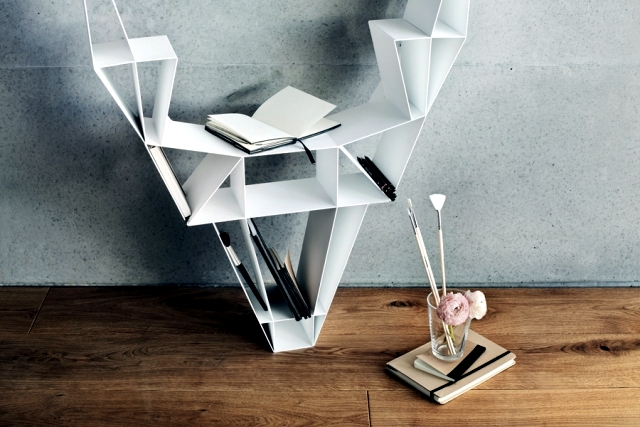 Freestanding bookcase design costs as a deer's head