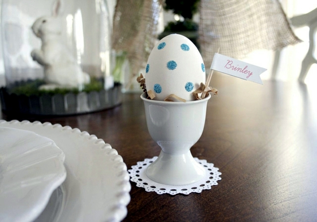 Dye Easter Eggs - 22 quick painting techniques and Crafts