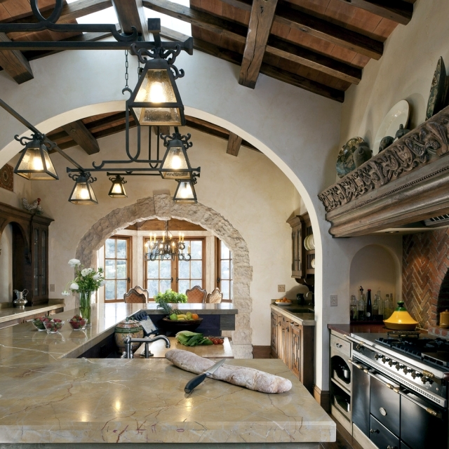 28 cottage kitchen in tuscan style you want to cook for Tuscan style kitchen lighting