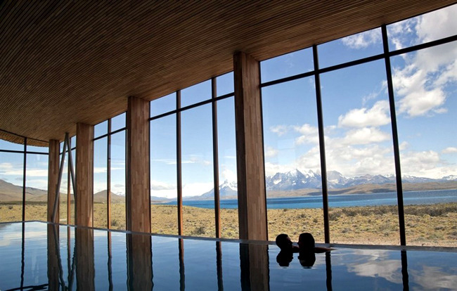 Luxury Tierra Patagonia Hotel and Spa offers beautiful views of nature