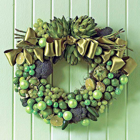 Ask the same door wreath Christmas - 18 DIY Creative Ideas
