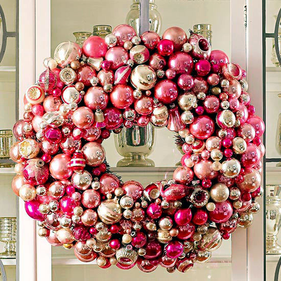 Ask the same door wreath Christmas - 18 DIY Creative Ideas