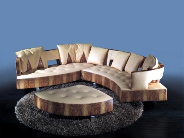 the new leather modular sofa with futuristic shape formenti ... - Das Modulare Ledersofa Heart Formenti