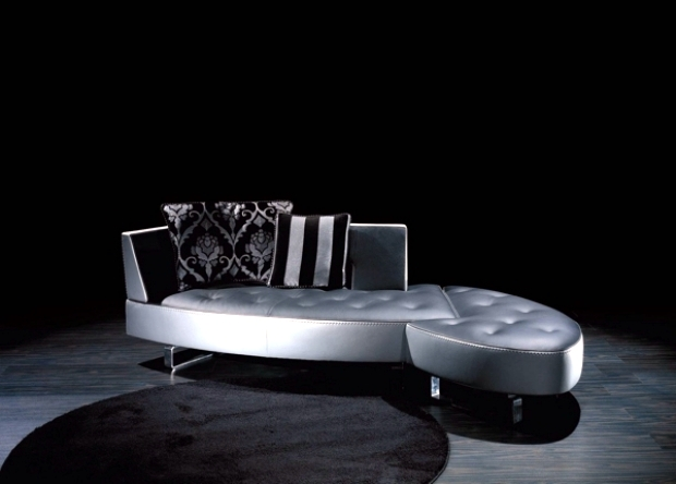 Das modulare ledersofa heart formenti  The new leather modular sofa with futuristic shape Formenti ...