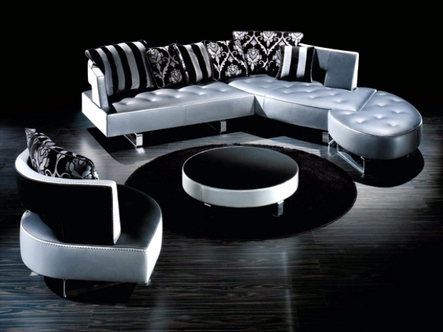 The new leather modular sofa with futuristic shape Formenti