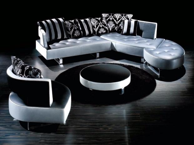 The new leather modular sofa with futuristic shape Formenti ...