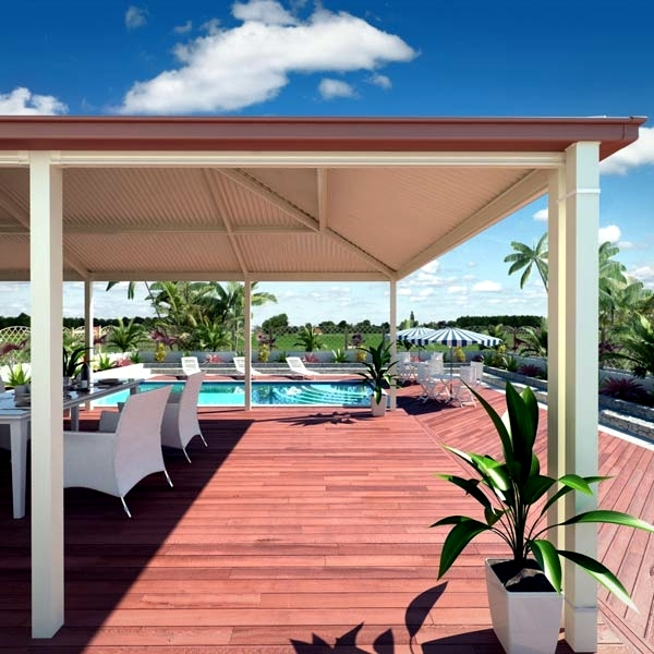 The selection of suitable materials for the roof terrace