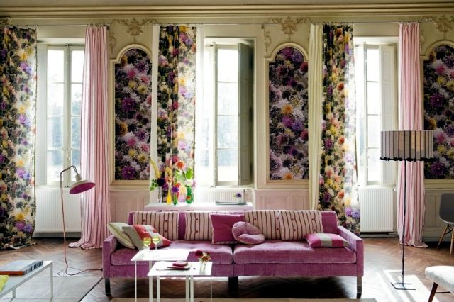 Wall Decoration Cloth : Wall decoration with fabric stretched fabrics embellished