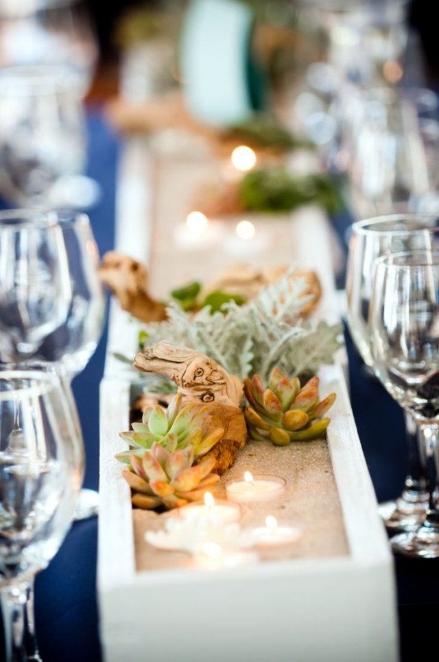 Table decoration for wedding - 80 ideas with flowers and greenery