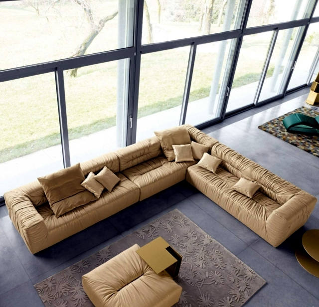 Corner sofa in the lounge - comfortable seating for relaxing