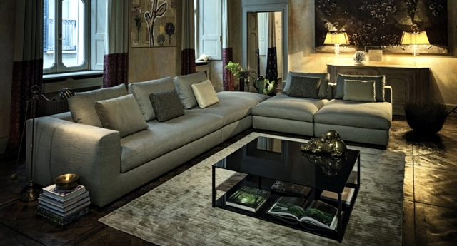 Corner sofa in the lounge – comfortable seating for