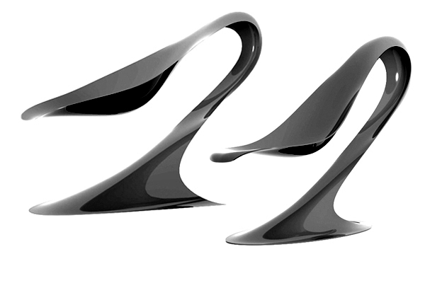 Spoon chair design combined with advanced technology Philipp Aduatz