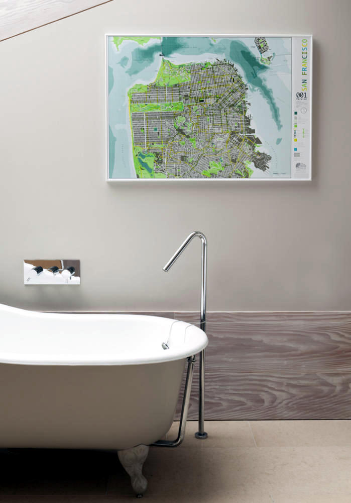 Modern bathroom with a touch of urban interior design for Urban bathroom ideas
