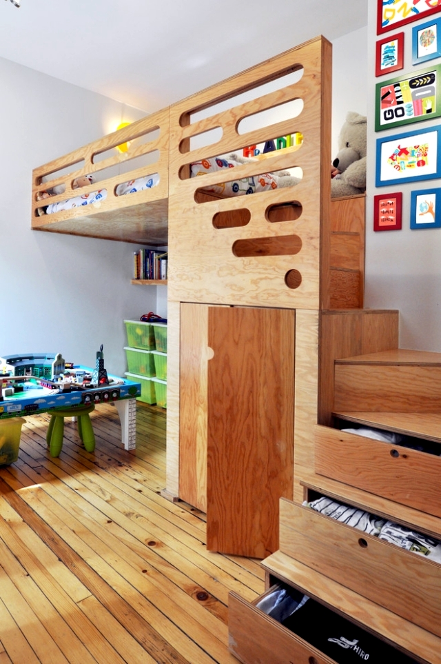Wood in the nursery versatile use - ideas for the optical heat