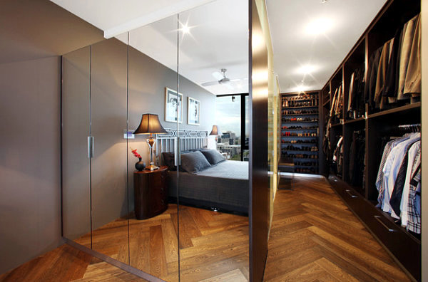 Build a wardrobe with mirror illusion of infinite space