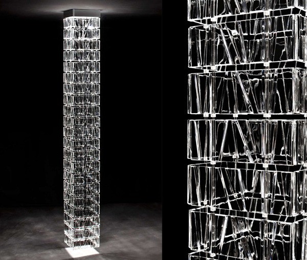 Modular system consisting of glass offers endless design possibilities