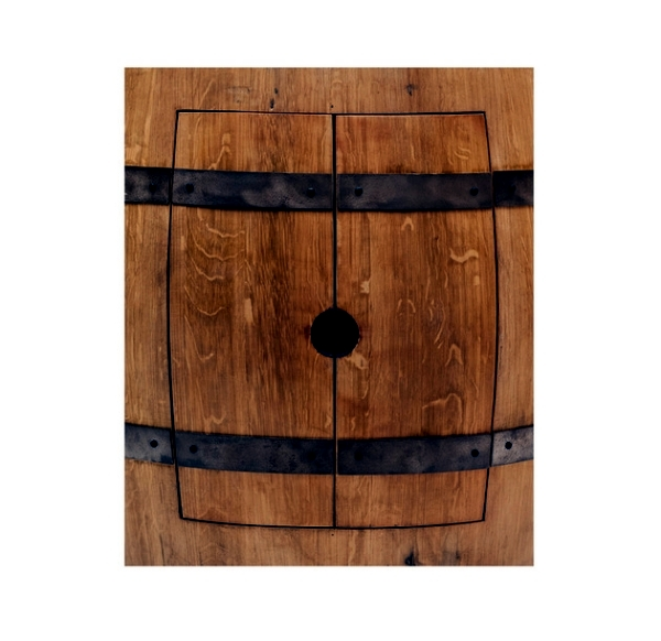 Rustic Bathroom Vanity - another application of wine barrels