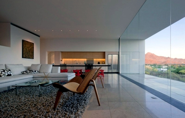 House minimalist architect concrete and glass in the for Minimalist concrete house