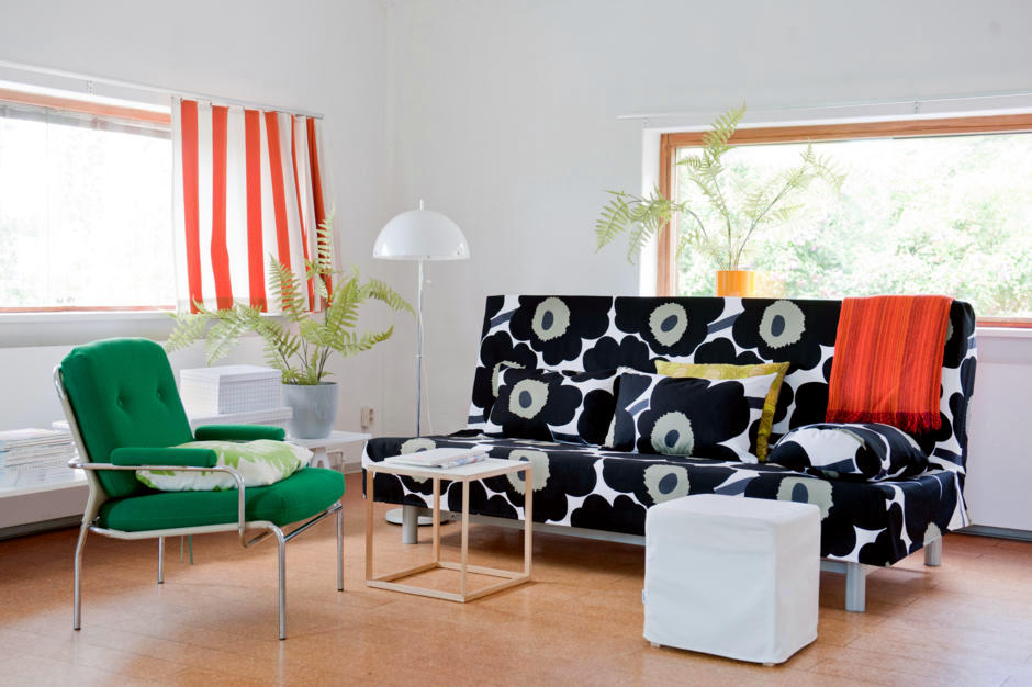 Sofa Cover With Large Floral Pattern Interior Design Ideas