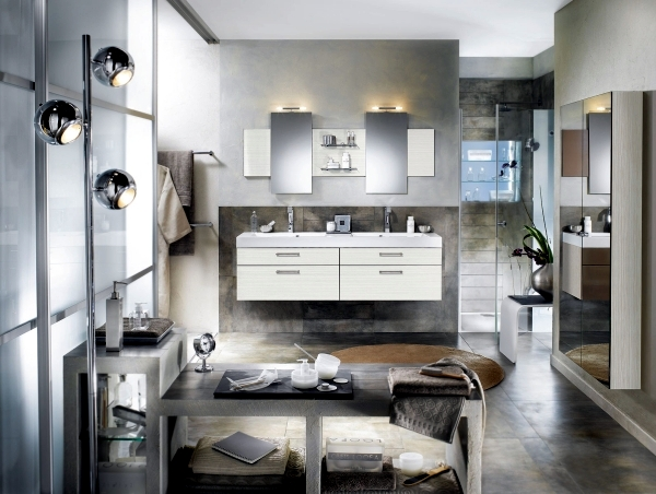 Modern bathroom design according to the latest trends for Current bathroom designs