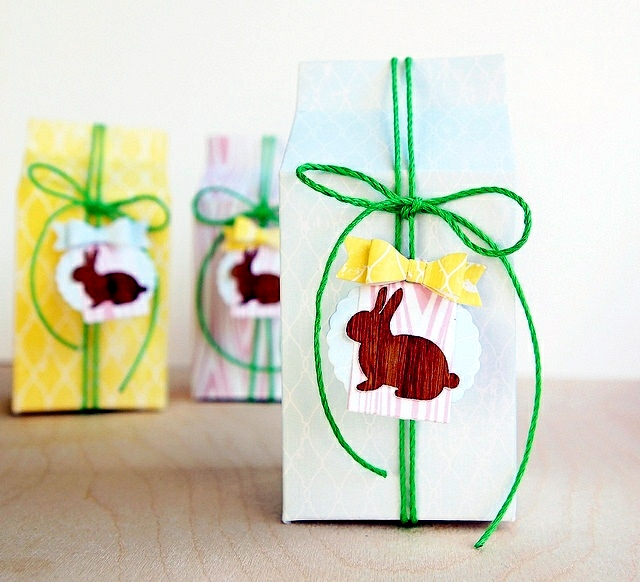 Easter crafts with paper - 22 ideas with fun animal silhouettes