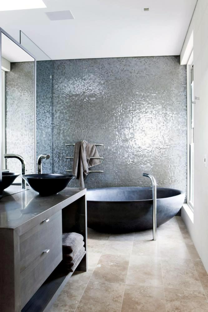 Mirror Mosaic Tile Interior Design