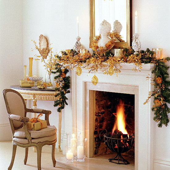 30 Christmas ideas for fireplace