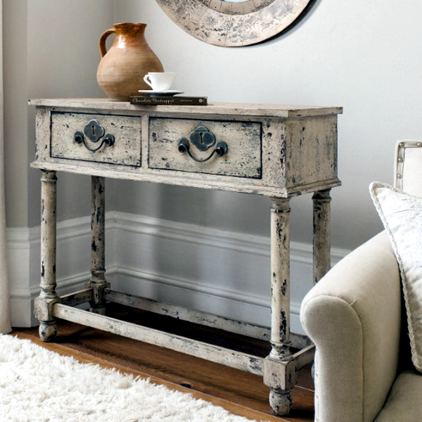... trendy and would be perfect in a modern setting. Every drop tell their  own story. These antiques are often too expensive. If you want antique  furniture ... - DIY Vintage Furniture – 3 Techniques To Distressed Interior Design
