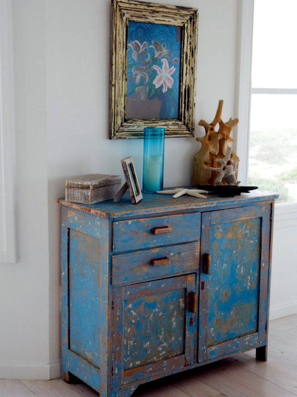 Diy vintage furniture 3 techniques to distressed - Vajilla shabby chic ...