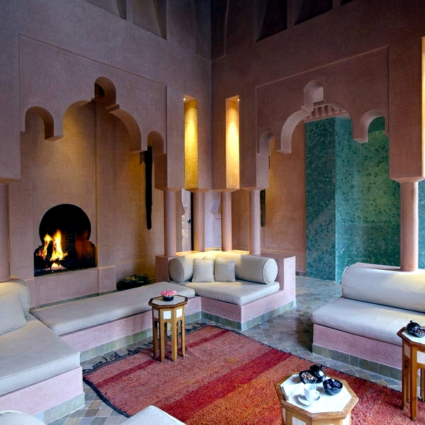 Moroccan Style Living Room   Furniture And Fabrics. Interior Design