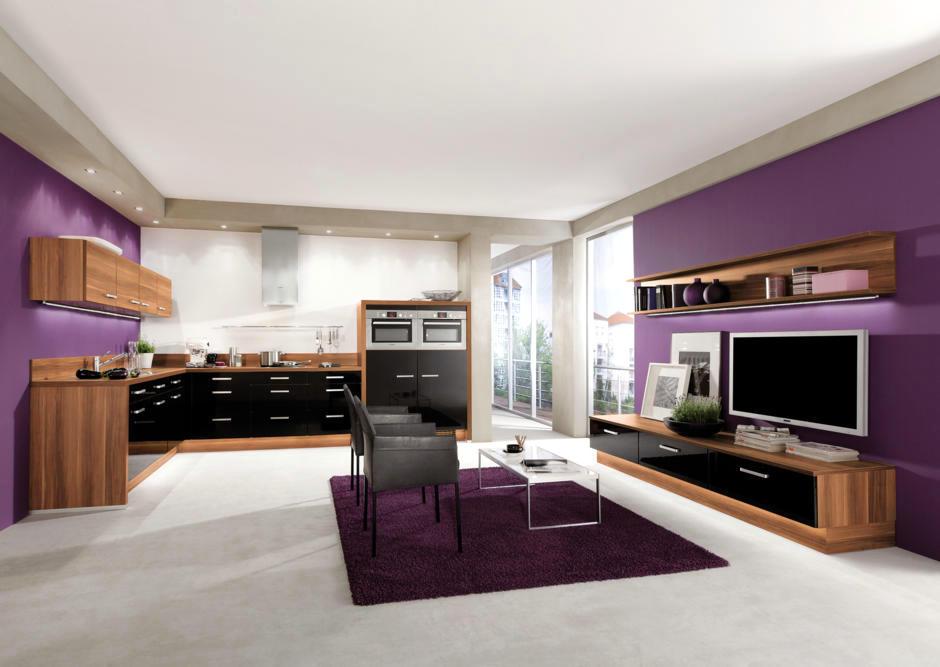 Purple Walls In The Kitchen Interior Design Ideas Ofdesign